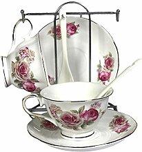 Wandeful Teetasse und Untertasse aus Porzellan mit
