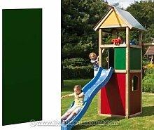 Wandelement geschlossen für Winnetoo, grün mit 90x138cm - Kinderspielgeräte für Garten, Spielgeräte für Kinder, Spielturm, Spieltürme