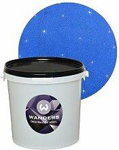 Wanders Glimmer-Optik Blau Wand-Farbe Glitzer-Effekt Wandfarbe-Glitter 3 Liter