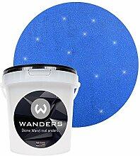 Wanders24 Glimmer-Optik (1 Liter, Gold-Blau) Glitzer-Wandfarbe in 16 Farbtönen erhältlich, individuelle Gestaltung, Effektfarbe Made in Germany