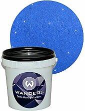 Wanders24 Glimmer-Optik (1 Liter, Gold-Blau) Glitzerfarbe, Glitzer Wandfarbe, Glitzereffekt, Wand-Farbe, Effektfarbe, Strukturfarbe, Glimmer, Glitter, glitter pain