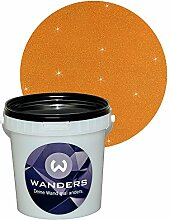 Wanders24 Glimmer-Optik (1 Liter, Gold-Braun) Glitzerfarbe, Glitzer Wandfarbe, Glitzereffekt, Wand-Farbe, Effektfarbe, Strukturfarbe, Glimmer, Glitter, glitter pain
