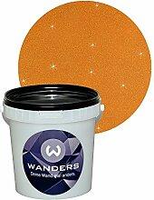 Wanders24 Glimmer-Optik (1 Liter, Gold-Braun) Wand-Farbe Glitzer-Effekt Wandfarbe-Glitter