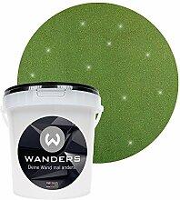 Wanders24 Glimmer-Optik (1 Liter, Gold-Grün) Glitzer-Wandfarbe in 16 Farbtönen erhältlich, individuelle Gestaltung, Effektfarbe Made in Germany