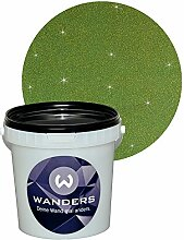 Wanders24 Glimmer-Optik (1 Liter, Gold-Grün) Wand-Farbe Glitzer-Effekt Wandfarbe-Glitter