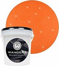 Wanders24 Glimmer-Optik (1 Liter, Gold-Orange) Glitzer-Wandfarbe in 16 Farbtönen erhältlich, individuelle Gestaltung, Effektfarbe Made in Germany