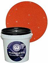 Wanders24 Glimmer-Optik (1 Liter, Gold-Rost-Rot) Glitzerfarbe, Glitzer Wandfarbe, Glitzereffekt, Wand-Farbe, Effektfarbe, Strukturfarbe, Glimmer, Glitter, glitter pain
