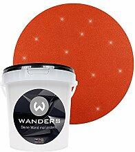 Wanders24 Glimmer-Optik (1 Liter, Gold-Rostrot) Glitzer-Wandfarbe in 16 Farbtönen erhältlich, individuelle Gestaltung, Effektfarbe Made in Germany