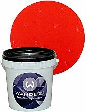 Wanders24 Glimmer-Optik (1 Liter, Gold-Rot) Glitzerfarbe, Glitzer Wandfarbe, Glitzereffekt, Wand-Farbe, Effektfarbe, Strukturfarbe, Glimmer, Glitter, glitter pain