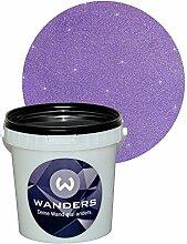 Wanders24 Glimmer-Optik (1 Liter, Silber-Lila) Wand-Farbe Glitzer-Effekt Wandfarbe-Glitter