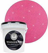 Wanders24 Glimmer-Optik (1 Liter, Silber-Pink) Glitzer-Wandfarbe in 16 Farbtönen erhältlich, individuelle Gestaltung, Effektfarbe Made in Germany