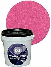 Wanders24 Glimmer-Optik (1 Liter, Silber-Pink) Wand-Farbe Glitzer-Effekt Wandfarbe-Glitter