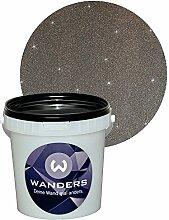 Wanders24 Glimmer-Optik (1 Liter, Silber-Schwarz) Wand-Farbe Glitzer-Effekt Wandfarbe-Glitter