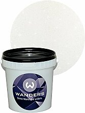 Wanders24 Glimmer-Optik (1 Liter, Silber-Weiß) Wand-Farbe Glitzer-Effekt Wandfarbe-Glitter