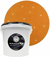 Wanders24 Glimmer-Optik (3 Liter, Gold-Braun) Glitzer-Wandfarbe in 16 Farbtönen erhältlich, individuelle Gestaltung, Effektfarbe Made in Germany