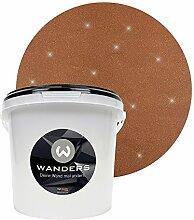 Wanders24 Glimmer-Optik (3 Liter, Gold-Dunkelbraun) Glitzer-Wandfarbe in 16 Farbtönen erhältlich, individuelle Gestaltung, Effektfarbe Made in Germany