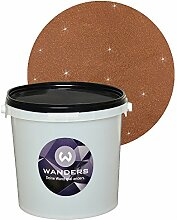 Wanders24 Glimmer-Optik (3 Liter, Gold-Dunkelbraun) Wand-Farbe Glitzer-Effekt Wandfarbe-Glitter