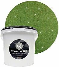 Wanders24 Glimmer-Optik (3 Liter, Gold-Grün) Glitzer-Wandfarbe in 16 Farbtönen erhältlich, individuelle Gestaltung, Effektfarbe Made in Germany