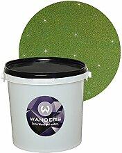 Wanders24 Glimmer-Optik (3 Liter, Gold-Grün) Glitzerfarbe, Glitzer Wandfarbe, Glitzereffekt, Wand-Farbe, Effektfarbe, Strukturfarbe, Glimmer, Glitter, glitter pain