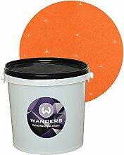 Wanders24 Glimmer-Optik (3 Liter, Gold-Orange) Glitzerfarbe, Glitzer Wandfarbe, Glitzereffekt, Wand-Farbe, Effektfarbe, Strukturfarbe, Glimmer, Glitter, glitter pain