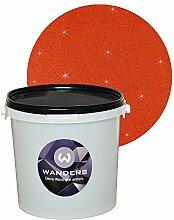 Wanders24 Glimmer-Optik (3 Liter, Gold-Rost-Rot) Glitzerfarbe, Glitzer Wandfarbe, Glitzereffekt, Wand-Farbe, Effektfarbe, Strukturfarbe, Glimmer, Glitter, glitter pain