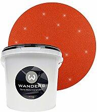 Wanders24 Glimmer-Optik (3 Liter, Gold-Rostrot) Glitzer-Wandfarbe in 16 Farbtönen erhältlich, individuelle Gestaltung, Effektfarbe Made in Germany