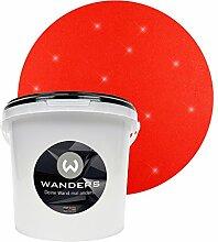 Wanders24 Glimmer-Optik (3 Liter, Gold-Rot) Glitzer-Wandfarbe in 16 Farbtönen erhältlich, individuelle Gestaltung, Effektfarbe Made in Germany