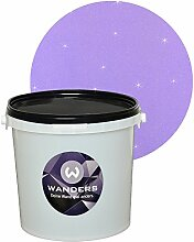 Wanders24 Glimmer-Optik (3 Liter, Silber-Flieder) Glitzerfarbe, Glitzer Wandfarbe, Glitzereffekt, Wand-Farbe, Effektfarbe, Strukturfarbe, Glimmer, Glitter, glitter pain