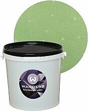 Wanders24 Glimmer-Optik (3 Liter, Silber-Jade) Wand-Farbe Glitzer-Effekt Wandfarbe-Glitter