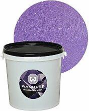 Wanders24 Glimmer-Optik (3 Liter, Silber-Lila) Wand-Farbe Glitzer-Effekt Wandfarbe-Glitter