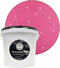 Wanders24 Glimmer-Optik (3 Liter, Silber-Pink) Glitzer-Wandfarbe in 16 Farbtönen erhältlich, individuelle Gestaltung, Effektfarbe Made in Germany