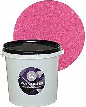 Wanders24 Glimmer-Optik (3 Liter, Silber-Pink) Glitzerfarbe, Glitzer Wandfarbe, Glitzereffekt, Wand-Farbe, Effektfarbe, Strukturfarbe, Glimmer, Glitter, glitter pain