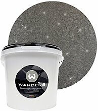 Wanders24 Glimmer-Optik (3 Liter, Silber-Schwarz) Glitzer-Wandfarbe in 16 Farbtönen erhältlich, individuelle Gestaltung, Effektfarbe Made in Germany