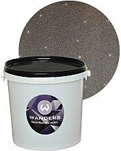 Wanders24 Glimmer-Optik (3 Liter, Silber-Schwarz) Wand-Farbe Glitzer-Effekt Wandfarbe-Glitter