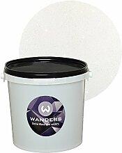 Wanders24 Glimmer-Optik (3 Liter, Silber-Weiß) Wand-Farbe Glitzer-Effekt Wandfarbe-Glitter