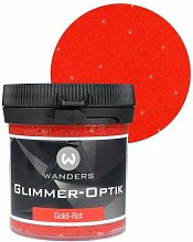 Wanders24 Glimmer-Optik (80ml, Gold-Rot) Glitzer-Wandfarbe in 16 Farbtönen erhältlich, individuelle Gestaltung, Effektfarbe Made in Germany