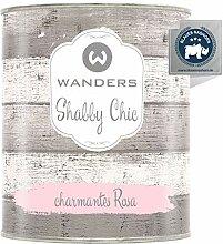 Wanders24® Kreidefarbe (750 ml, charmantes Rosa)