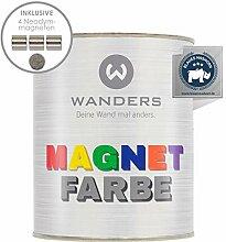 Wanders24® Magnetfarbe (1 Liter, Dunkelgrau)