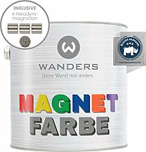 Wanders24® Magnetfarbe (2,5 Liter, Dunkelgrau)