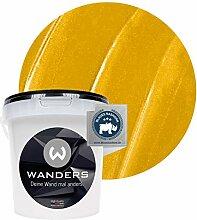Wanders24® Metall-Optik (1 Liter, Gold) Wandfarbe