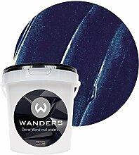 Wanders24 Metall-Optik (1 Liter, Marine) Wandfarbe