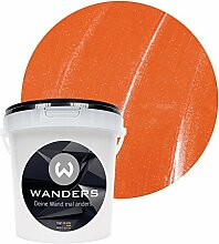 Wanders24 Metall-Optik (1 Liter, Orange) Wandfarbe