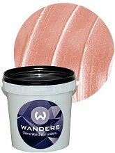 Wanders24 Metall-Optik (1 Liter, Rosa) Effektfarbe, Wandfarbe, Metallic Wand, Glitzer Wandfarbe, Effekt Farbe, Wand Farbe, Wandfarbe Metallic, abwaschbar, Metall Effek