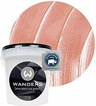Wanders24® Metall-Optik (1 Liter, Rosa) Wandfarbe