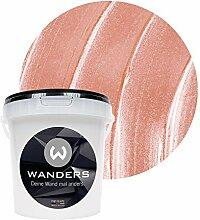 Wanders24 Metall-Optik (1 Liter, Rosa) Wandfarbe