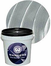 Wanders24 Metall-Optik (1 Liter, Silber) Wand-Farbe Metallic-Effect Metall-Effekt-Farbe