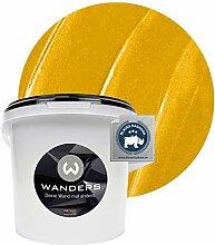 Wanders24® Metall-Optik (3 Liter, Gold) Wandfarbe