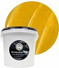 Wanders24 Metall-Optik (3 Liter, Gold) Wandfarbe