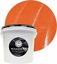 Wanders24 Metall-Optik (3 Liter, Orange) Wandfarbe