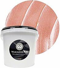 Wanders24 Metall-Optik (3 Liter, Rosa) Wandfarbe
